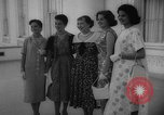 Image of Mamie Eisenhower with Latin American beauty queens Washington DC USA, 1958, second 11 stock footage video 65675071624