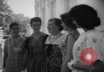 Image of Mamie Eisenhower with Latin American beauty queens Washington DC USA, 1958, second 14 stock footage video 65675071624