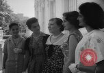 Image of Mamie Eisenhower with Latin American beauty queens Washington DC USA, 1958, second 15 stock footage video 65675071624