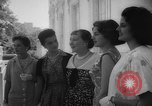 Image of Mamie Eisenhower with Latin American beauty queens Washington DC USA, 1958, second 16 stock footage video 65675071624