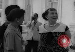 Image of Mamie Eisenhower with Latin American beauty queens Washington DC USA, 1958, second 25 stock footage video 65675071624