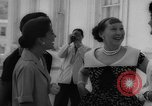 Image of Mamie Eisenhower with Latin American beauty queens Washington DC USA, 1958, second 26 stock footage video 65675071624