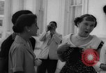 Image of Mamie Eisenhower with Latin American beauty queens Washington DC USA, 1958, second 27 stock footage video 65675071624