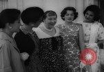 Image of Mamie Eisenhower with Latin American beauty queens Washington DC USA, 1958, second 30 stock footage video 65675071624