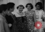 Image of Mamie Eisenhower with Latin American beauty queens Washington DC USA, 1958, second 31 stock footage video 65675071624
