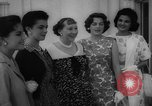 Image of Mamie Eisenhower with Latin American beauty queens Washington DC USA, 1958, second 32 stock footage video 65675071624