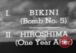 Image of atom bomb Bikini Atoll Marshall Islands, 1946, second 29 stock footage video 65675071634