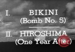 Image of atom bomb Bikini Atoll Marshall Islands, 1946, second 30 stock footage video 65675071634