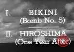 Image of atom bomb Bikini Atoll Marshall Islands, 1946, second 31 stock footage video 65675071634