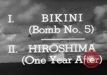 Image of atom bomb Bikini Atoll Marshall Islands, 1946, second 32 stock footage video 65675071634