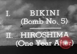 Image of atom bomb Bikini Atoll Marshall Islands, 1946, second 33 stock footage video 65675071634