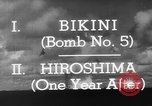 Image of atom bomb Bikini Atoll Marshall Islands, 1946, second 34 stock footage video 65675071634