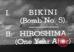 Image of atom bomb Bikini Atoll Marshall Islands, 1946, second 35 stock footage video 65675071634