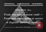 Image of shirts torn off during annual Straw Race Chicago Illinois USA, 1932, second 14 stock footage video 65675071663