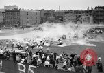 Image of shirts torn off during annual Straw Race Chicago Illinois USA, 1932, second 25 stock footage video 65675071663