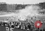 Image of shirts torn off during annual Straw Race Chicago Illinois USA, 1932, second 29 stock footage video 65675071663