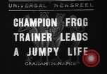 Image of pet frogs San Jose California USA, 1936, second 1 stock footage video 65675071673