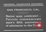 Image of anniversary of admission to Union San Francisco California USA, 1930, second 5 stock footage video 65675071706