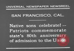 Image of anniversary of admission to Union San Francisco California USA, 1930, second 10 stock footage video 65675071706