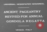Image of annual gondola regatta Venice Italy, 1930, second 3 stock footage video 65675071708