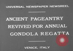 Image of annual gondola regatta Venice Italy, 1930, second 4 stock footage video 65675071708