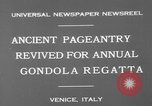 Image of annual gondola regatta Venice Italy, 1930, second 8 stock footage video 65675071708