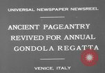 Image of annual gondola regatta Venice Italy, 1930, second 9 stock footage video 65675071708