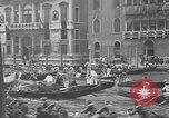 Image of annual gondola regatta Venice Italy, 1930, second 30 stock footage video 65675071708