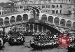 Image of annual gondola regatta Venice Italy, 1930, second 47 stock footage video 65675071708