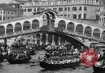 Image of annual gondola regatta Venice Italy, 1930, second 48 stock footage video 65675071708