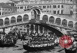 Image of annual gondola regatta Venice Italy, 1930, second 50 stock footage video 65675071708