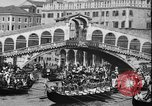 Image of annual gondola regatta Venice Italy, 1930, second 51 stock footage video 65675071708