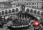 Image of annual gondola regatta Venice Italy, 1930, second 54 stock footage video 65675071708