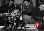 Image of Senate Hearings with Howard Hughes Washington DC USA, 1947, second 16 stock footage video 65675071720