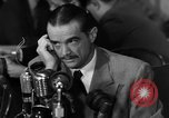 Image of Senate Hearings with Howard Hughes Washington DC USA, 1947, second 56 stock footage video 65675071720