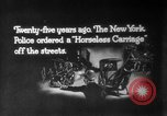 Image of Early 1900s car traffic New York City United States USA, 1920, second 13 stock footage video 65675071726