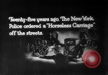 Image of Early 1900s car traffic New York City United States USA, 1920, second 19 stock footage video 65675071726