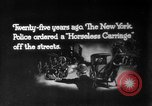 Image of Early 1900s car traffic New York City United States USA, 1920, second 20 stock footage video 65675071726