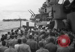 Image of funeral Pacific Ocean, 1944, second 6 stock footage video 65675071809