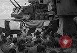 Image of funeral Pacific Ocean, 1944, second 20 stock footage video 65675071809