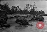 Image of Marines in landing vehicle tracked (LVT) during amphibious assault Pacific Theater, 1944, second 36 stock footage video 65675071826