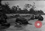 Image of Marines in landing vehicle tracked (LVT) during amphibious assault Pacific Theater, 1944, second 37 stock footage video 65675071826