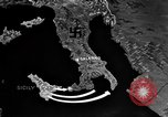 Image of Map shows path of Allied invasion of Italy from Sicily Italy, 1943, second 5 stock footage video 65675071828