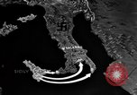 Image of Map shows path of Allied invasion of Italy from Sicily Italy, 1943, second 6 stock footage video 65675071828