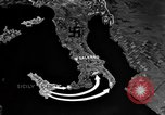 Image of Map shows path of Allied invasion of Italy from Sicily Italy, 1943, second 9 stock footage video 65675071828