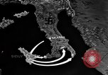 Image of Map shows path of Allied invasion of Italy from Sicily Italy, 1943, second 12 stock footage video 65675071828