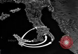 Image of Map shows path of Allied invasion of Italy from Sicily Italy, 1943, second 13 stock footage video 65675071828