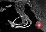 Image of Map shows path of Allied invasion of Italy from Sicily Italy, 1943, second 16 stock footage video 65675071828