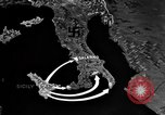 Image of Map shows path of Allied invasion of Italy from Sicily Italy, 1943, second 19 stock footage video 65675071828