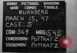 Image of war crimes trials Nuremberg Germany, 1947, second 1 stock footage video 65675071944
